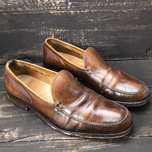 John Varvatos Leather Loafers Size 11